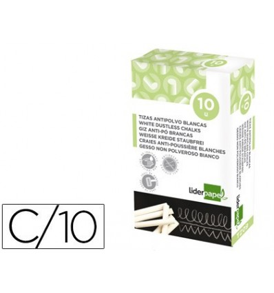 WHITE CHALK DUST LEADERPAPER BOX 10 PCS 10 Pcs