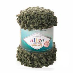 Пряжа Alize 'Puffy Fine Ombre Batik' 500гр. 73м. (100% микрополиэстер) (7299 хаки)