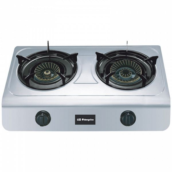 Gas Stove Orbegozo FO2700 Stainless Steel (2 Stoves)