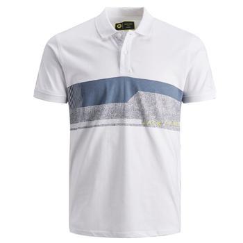 JACK & JONES men polo short sleeve Mod 2020 MONACO Slim Fit 100% cotton color white spring summer