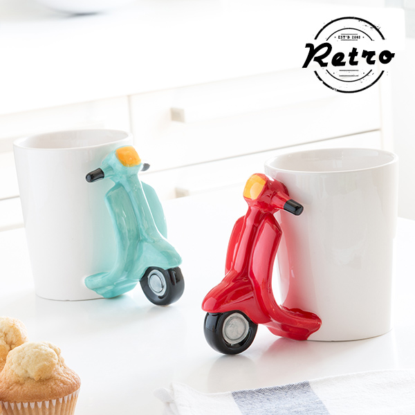 Retro Scooter Mug