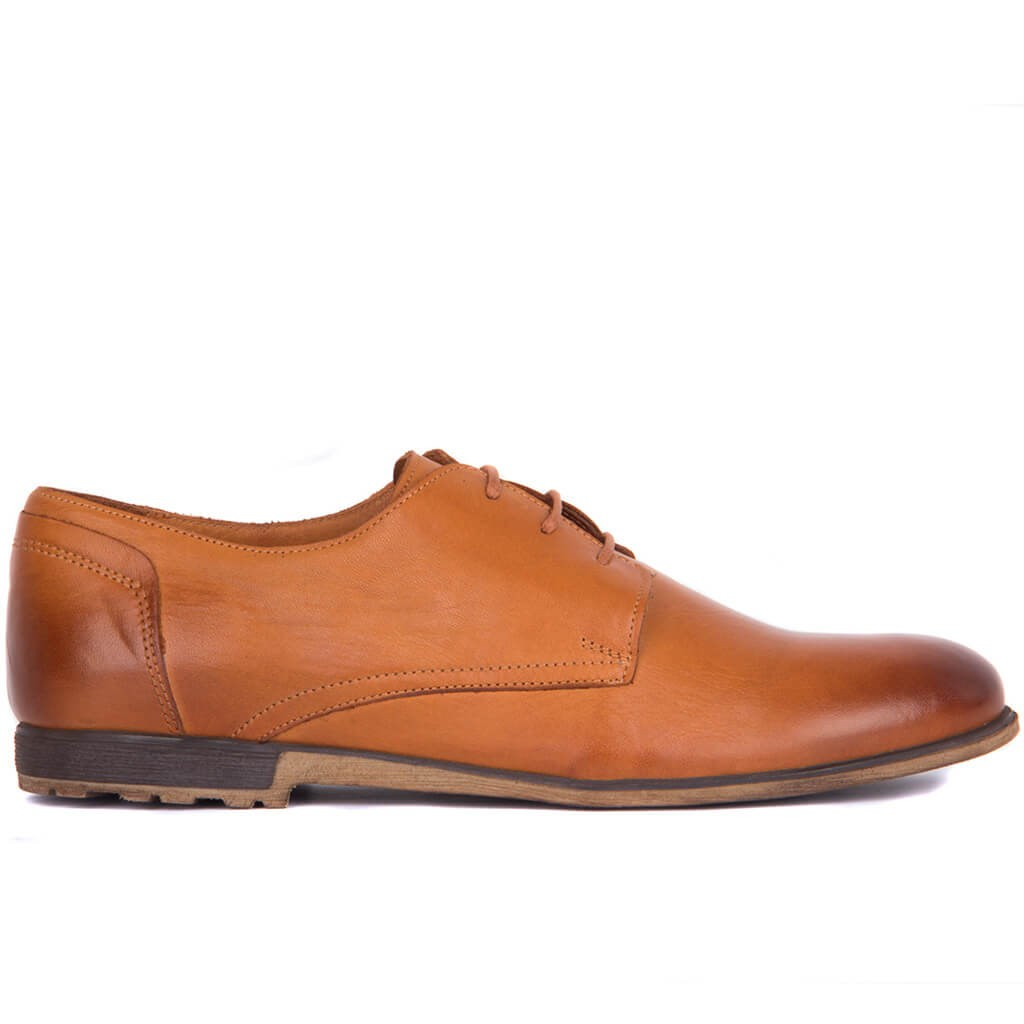 Sail Lakers-Tan Men Casual Leather Shoes