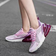 Baskets de Sport en maille respirante pour femmes, chaussures de course pour adolescentes, tennis d'entraînement, tendance, 2021