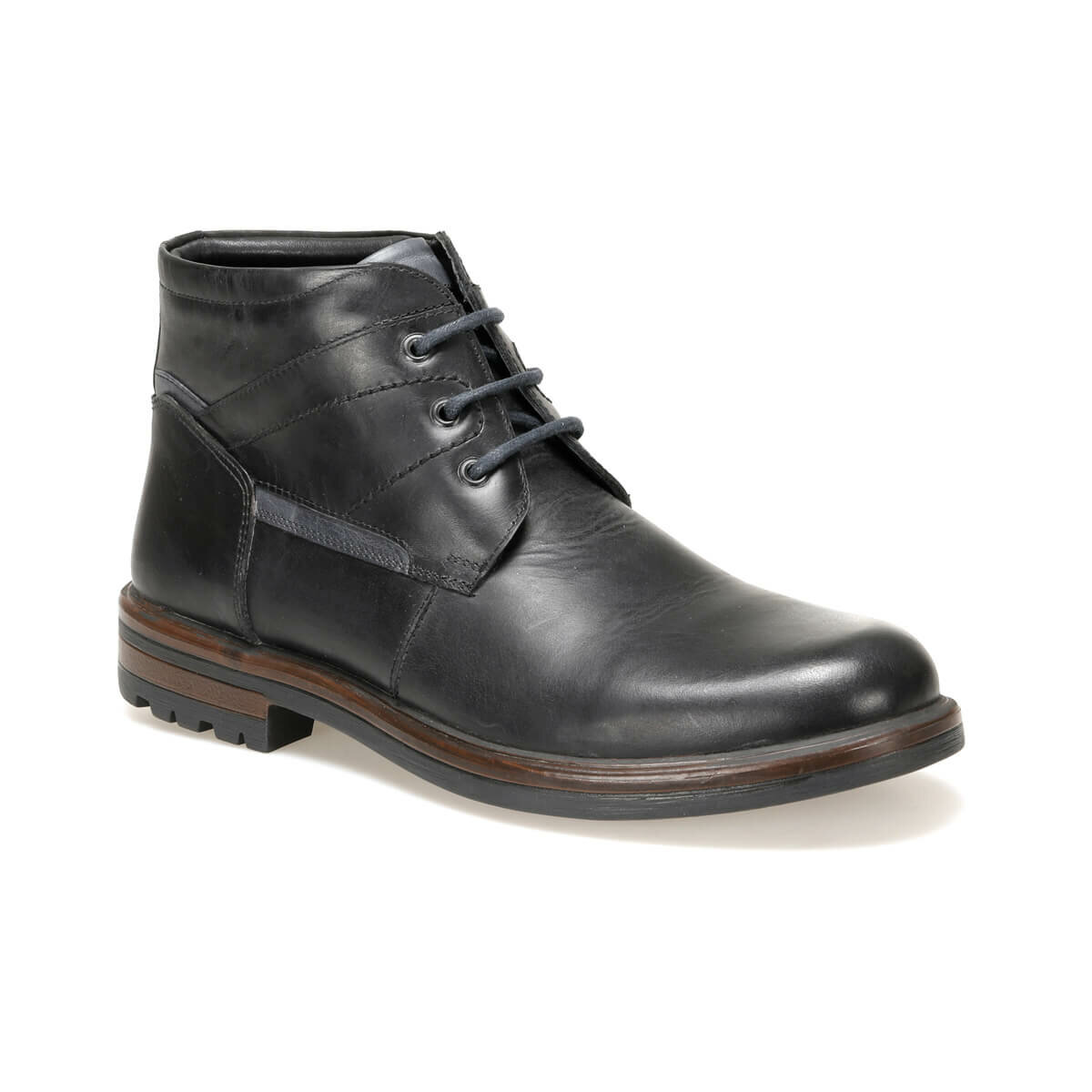 FLO 4132 Black Men Boots Garamond