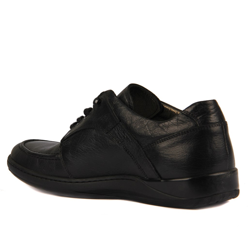 Sail-Lakers Black Genuine Leather Men 'S Casual Shoes
