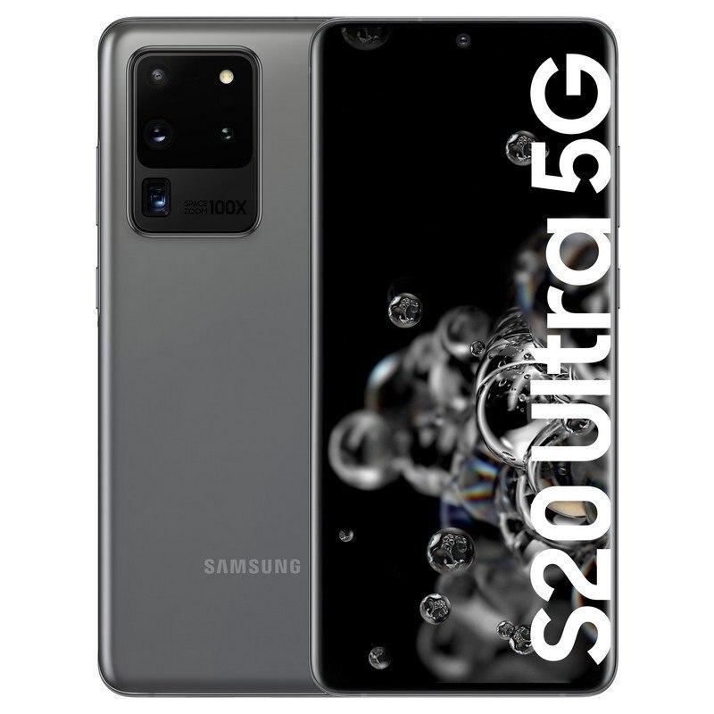 Телефон Samsung Galaxy S20 Ultra, Band 5G (G988b), цвет серый (серый), две sim-карты, 128 Гб встроенной памяти, 12 Гб оперативной памяти