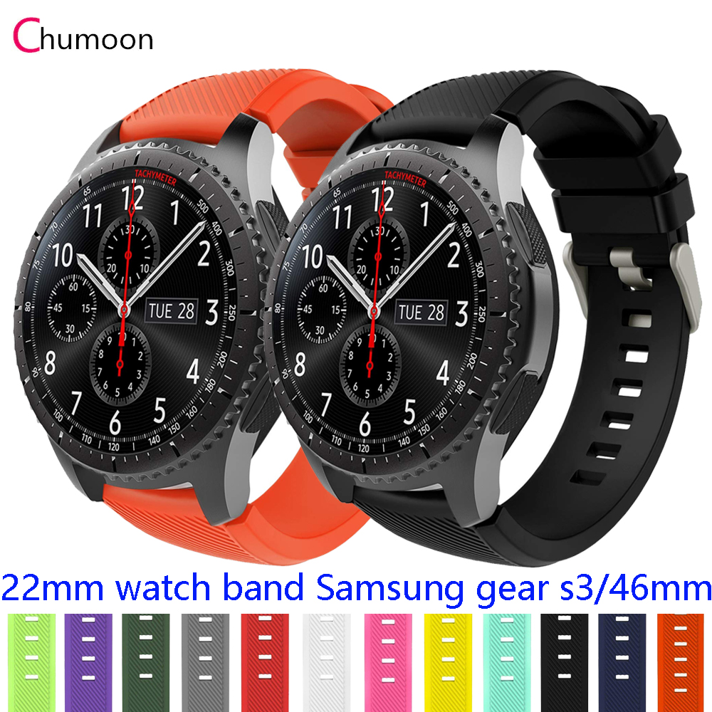 Galaxy Watch 46mm Strap For Samsung Gear S3 Frontier 22mm Watch Band Soft Silicone Watch Strap Bracelet Smart Watchband Gear S 3