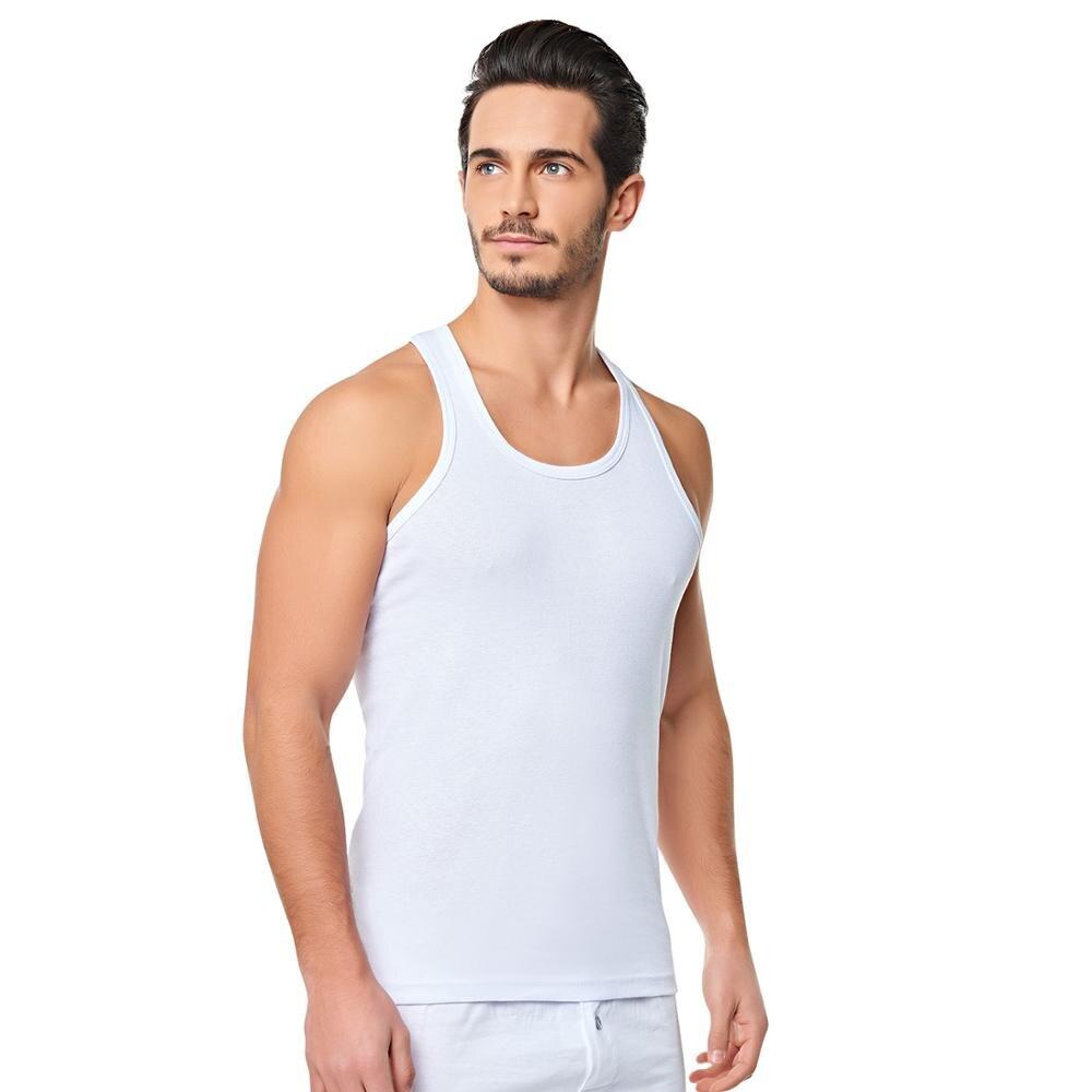 SET OF 6 FAMOUS TURKISH COTTON Men UNDERWEAR Sleep Clothing Singlet Vest Undervest Sleeveless Tank Top Undershirts
