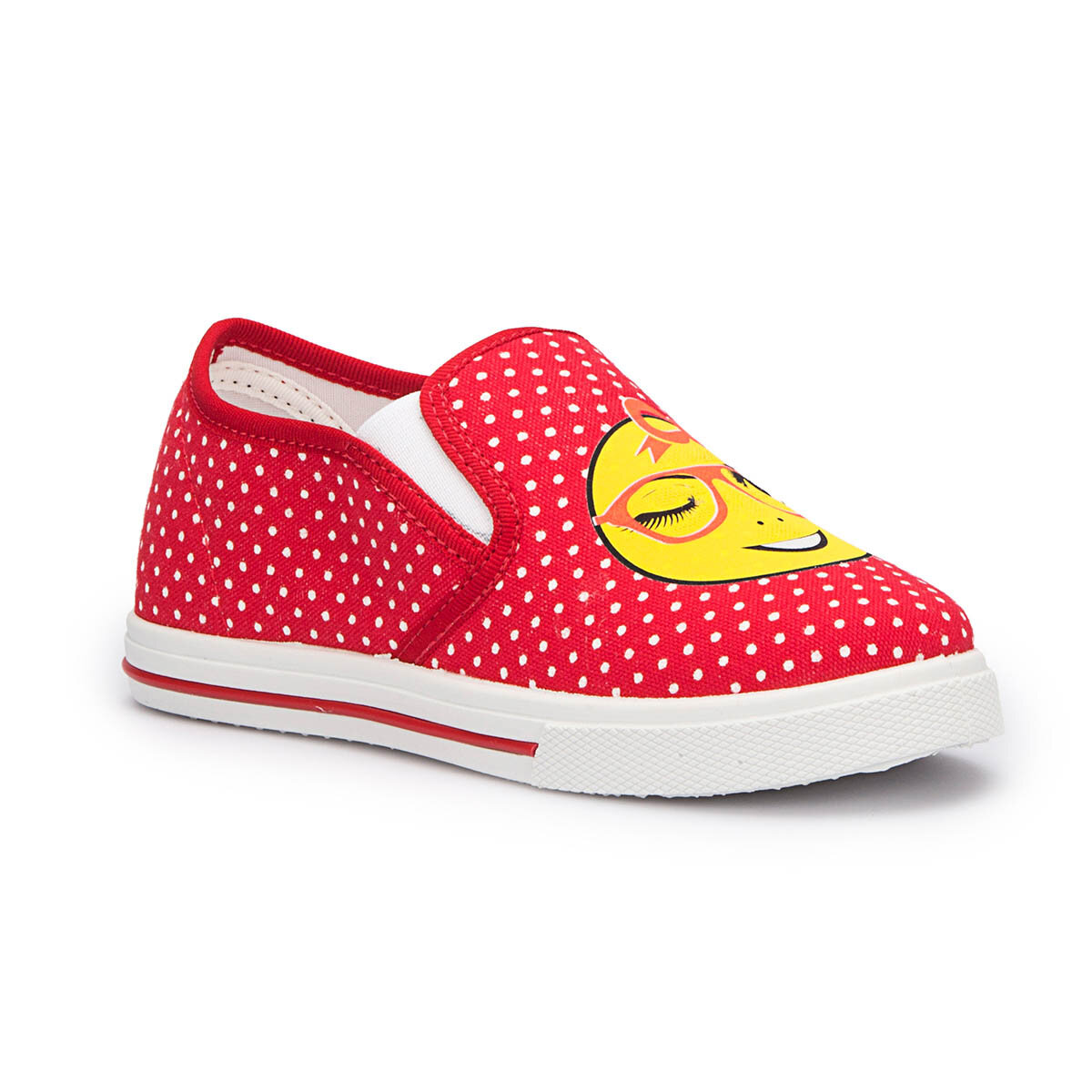 FLO PINKY-1 Red Female Child Slip On Shoes PINKSTEP
