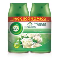 Refrogerador de ar 2x250 ml do buquê branco duplo freshmatic do pavio do ar reenchimento