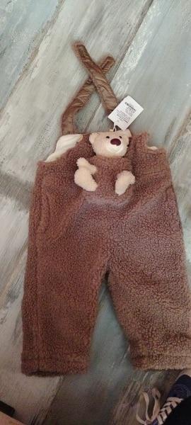 Winter baby boys girls plus fleece warm overalls fashion all-match toddler kids cute pocket bear trousers children's bib pants photo review