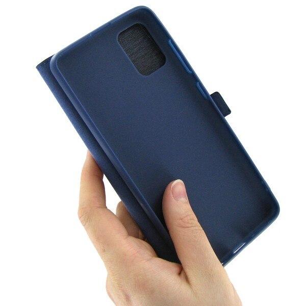 Чехол книжка Krutoff для Samsung Galaxy A51 (A515) синий Чехлы-книжки      АлиЭкспресс