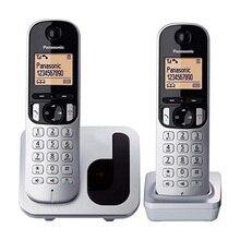 Беспроводной телефон Panasonic Corp. DUO KX-TGC212SPS(2 шт) черный/серебристый