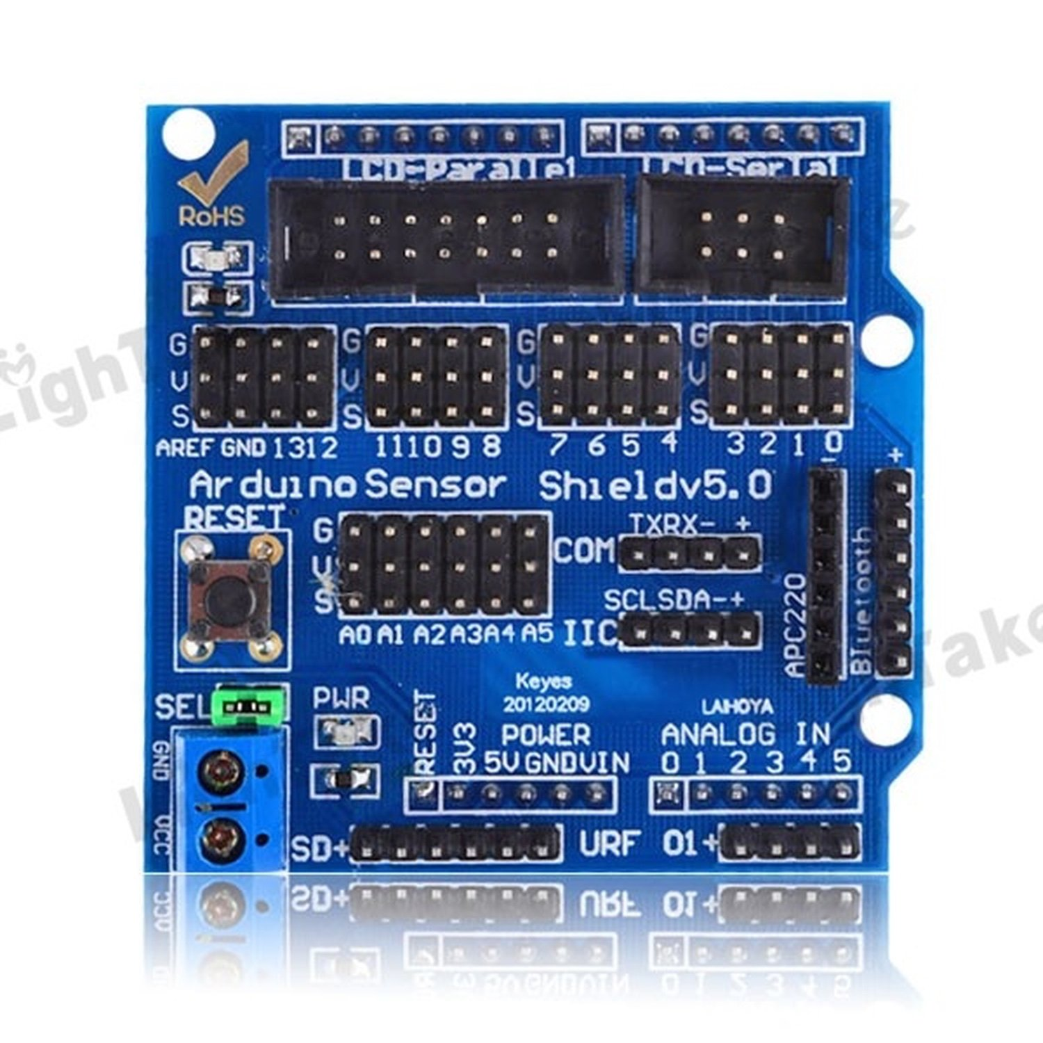Sensor Shield V5.0 [Arduino compatible] new italian original 9 axes motion shield for arduino based bno055 integrated accelerometer gyroscope geomagnetic sensor etc