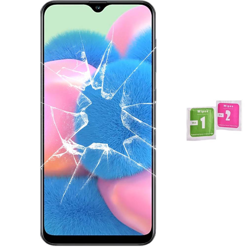 Protector Screen Tempered Glass For For Samsung Galaxy A30s (Generico, Not Full SEE INFO) WIPES