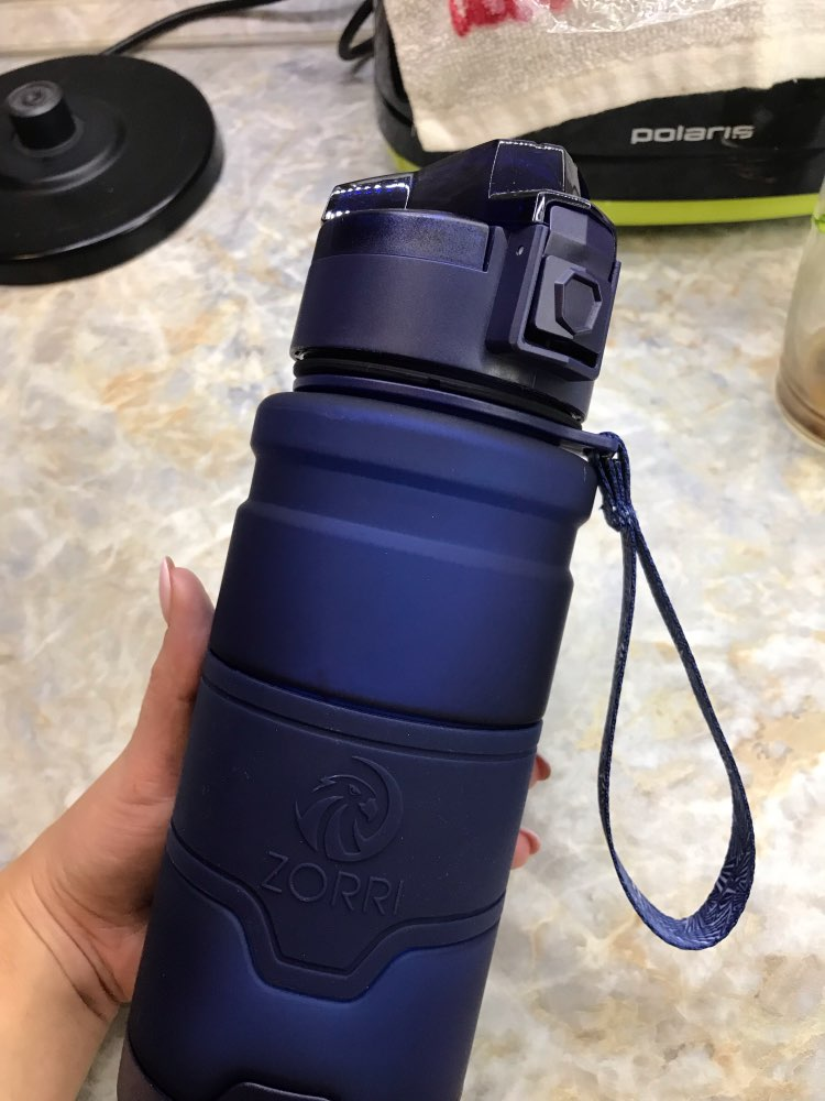 ZORRI Drak Blue Sports Water Bottle Best Reusable Protein Shaker Bpa Free Water Bottle Hiking Cycling Gym Bottle botella de agua-in Water Bottles from Home & Garden on AliExpress - 11.11_Double 11_Singles' Day