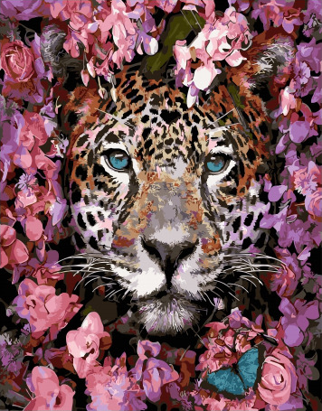 Painting By Numbers GX 32400 Spring Leopard 40*50