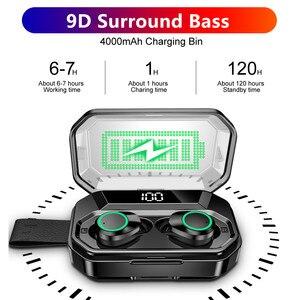 Image 4 - TWS 5.0 Bluetooth écouteur 4000mAh LED affichage sans fil Bluetooth écouteurs IPX7 étanche écouteurs stéréo casques avec micro