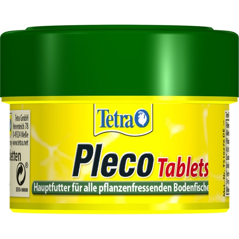 Tetra Pleco Tablets (tablet) for травоядных bottom fish, 58 tab.