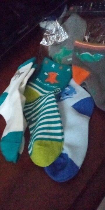 5 pairs Children Socks Spring & Autumn New Cotton Cute Cartoon Dinosaur Pattern Boys Socks Girls Socks 2-12 Year Kids socks photo review