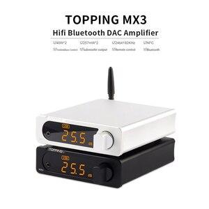 Image 3 - TOPPING MX3 USB DAC مضخم الصوت Hifi بلوتوث DAC أمبير PCM5102A مضخم رقمي بلوتوث مع مضخم ضوت سماعات الأذن الإخراج