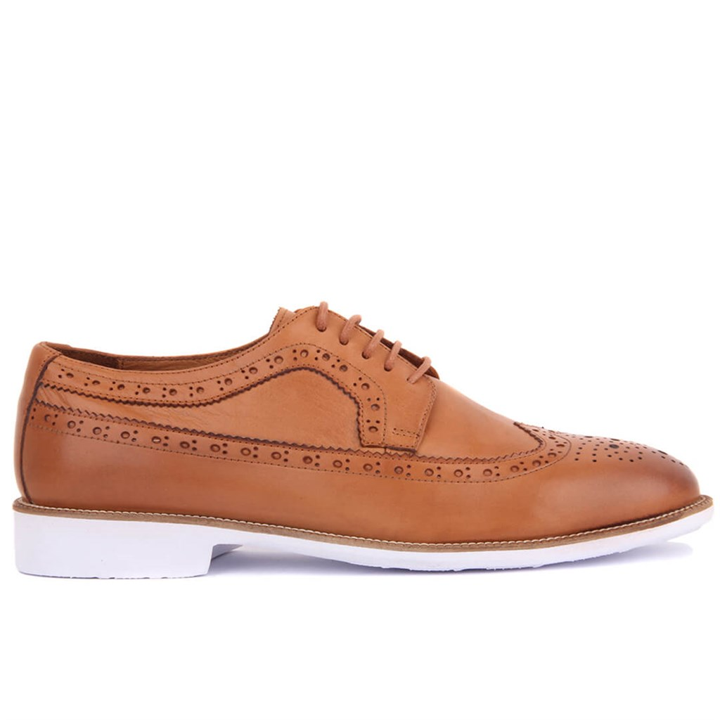 Sail-Lakers Genuine Leather Tan Casual Male Shoes