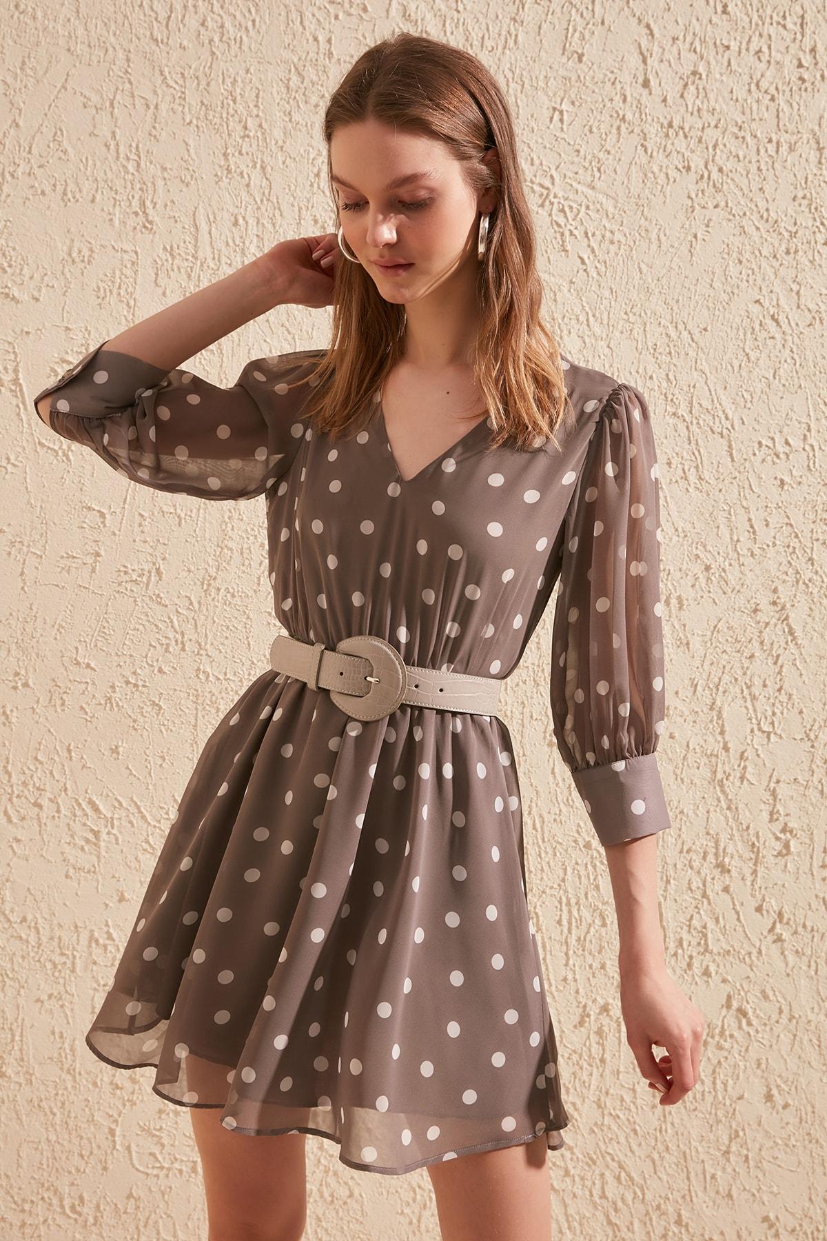 Trendyol Polka Dot Dress TWOSS20EL1323