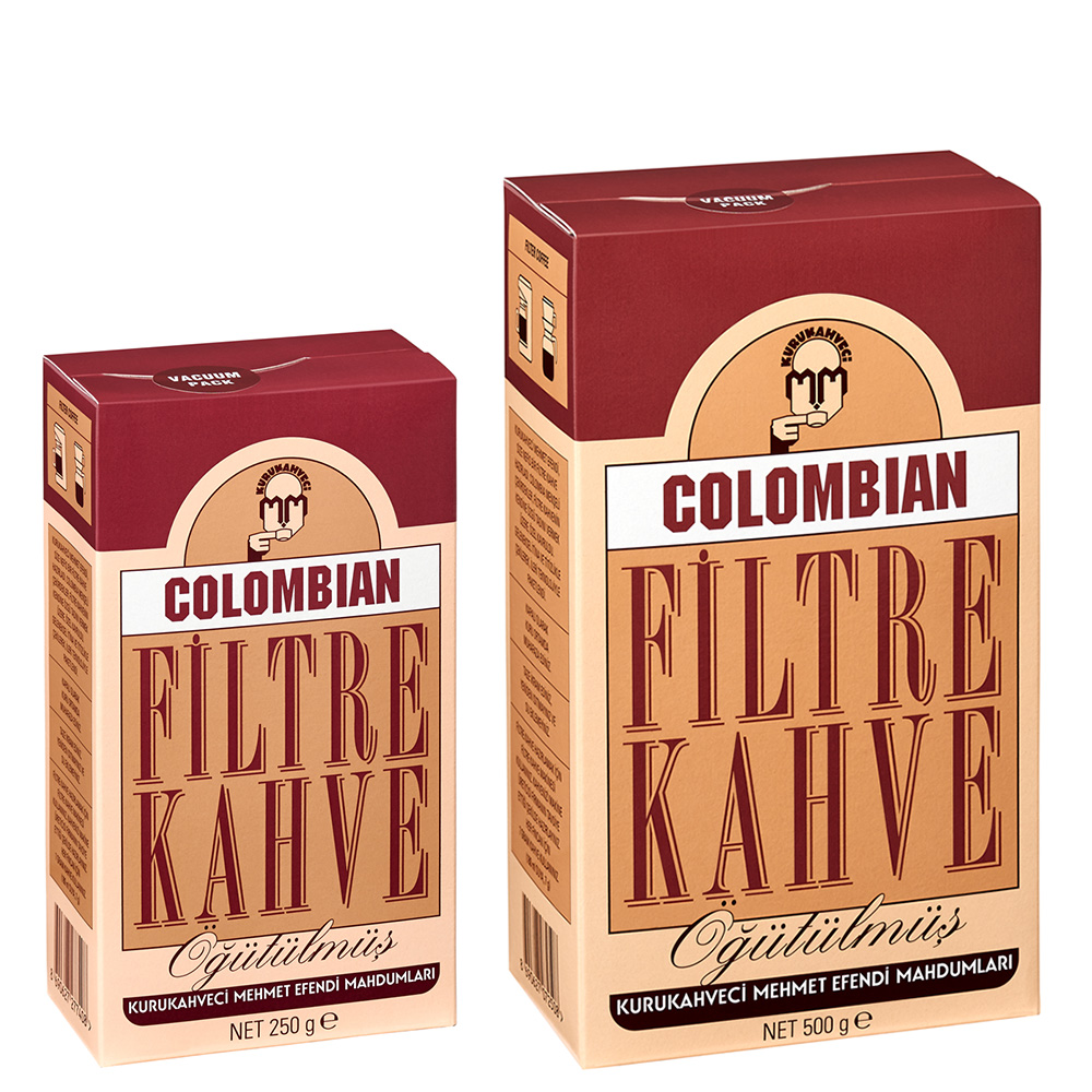Kurukahveci Mehmet Efendi Colombian Filter Coffee, 250 Gr Or 500 Gr, Turkish Coffee, Turkey Coffee, Moca Pot Coffee, Pour Over