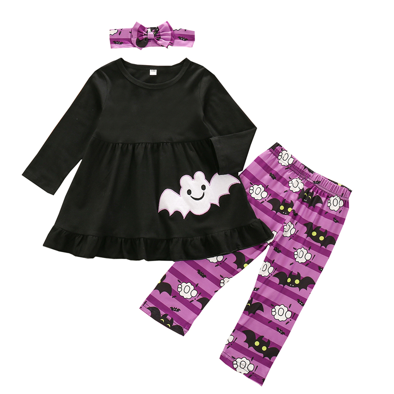 3pcs Toddler Kids baby girls tracksuit set jacket Tee pants outfits beauty