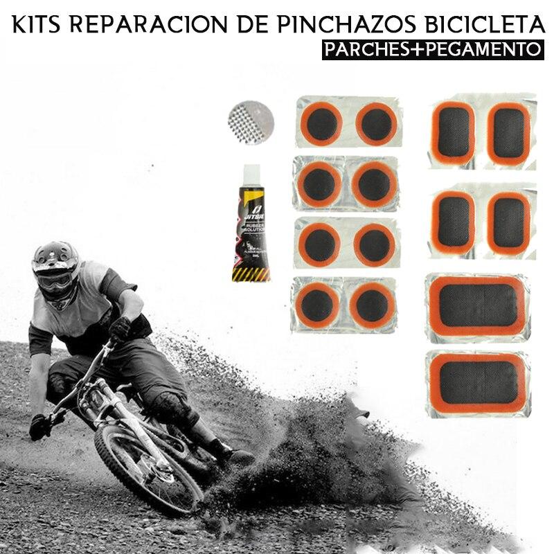 Fahrrad Patches Selbst Klebstoff Reparatur Kit Punktionen Fahrrad 7 Stück Fahrrad Werkzeuge Patches Enthalten Fahrrad werkzeuge kit