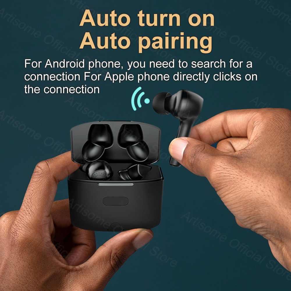 TWS หูฟังบลูทูธหูฟังไร้สายบลูทูธ 5.0 พร้อมไมโครโฟน TOUCH ชุดหูฟังชนิดใส่ในหูหูฟังไร้สาย 1200 mAh TWS