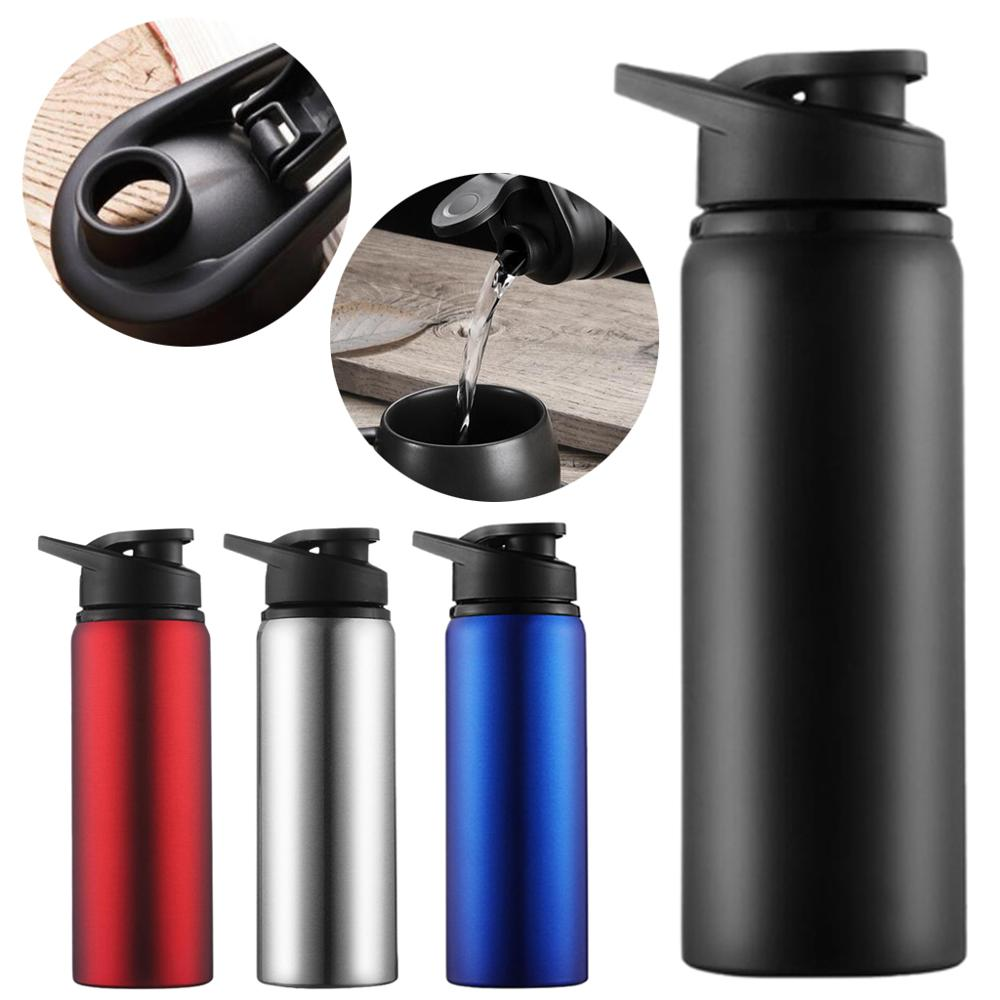 Stainless steel water bottle double wall Portable Outdoor water+bottles bottle with tea infuser Sports hydro flask hydro flask-in Water Bottles from Home & Garden on AliExpress