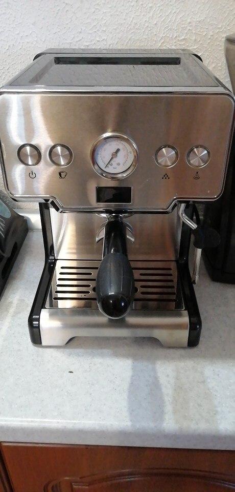 ITOP Espresso Coffee Maker Machine Stainless Steel Coffee Machine  15Bars Semi automatic Commercial Italian Coffee Maker Coffee Machines    - AliExpress