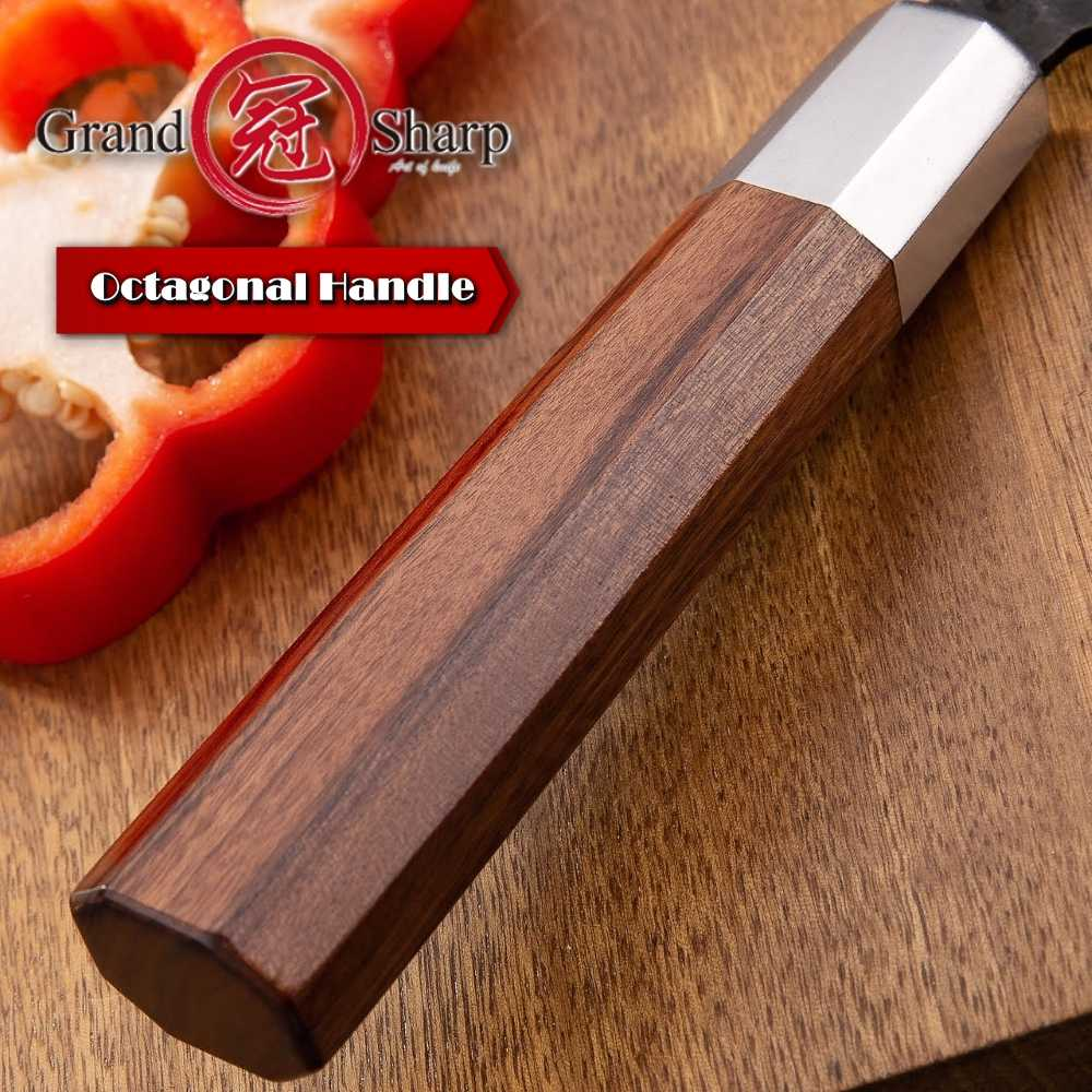 Japanese Chef Knife Handle DIY Kitchen Knives ECO Friendly natural  African Wood Knife Making Details Accessories Octagonal