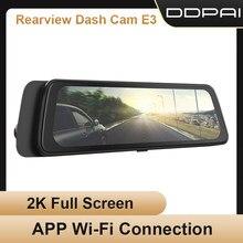 Ddpai traço cam mola e3 dvr android wi fi inteligente conectar câmera do carro gravador de estacionamento monitor hd escondido unidade veículo automóvel vide