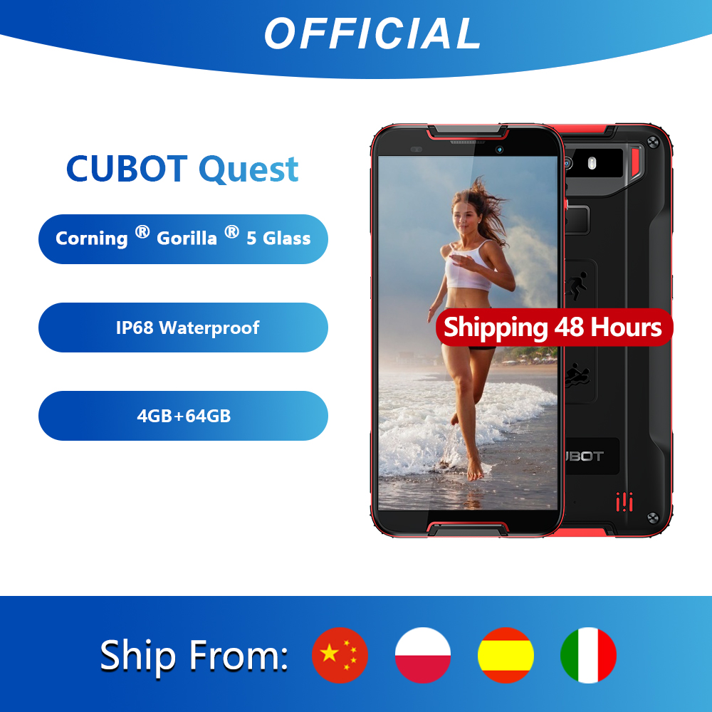 Cubot Quest Sports Rugged Phone 64GB Nfc Octa Core Face Recognition 12mp New Dual-Camera
