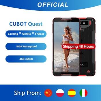 """Cubot Quest sport téléphone robuste Helio P22 octa-core 5.5 """"affichage 4GB + 64GB 4000mAh Android 9.0 Cellphone4G LTE double caméra 12.0MP"""