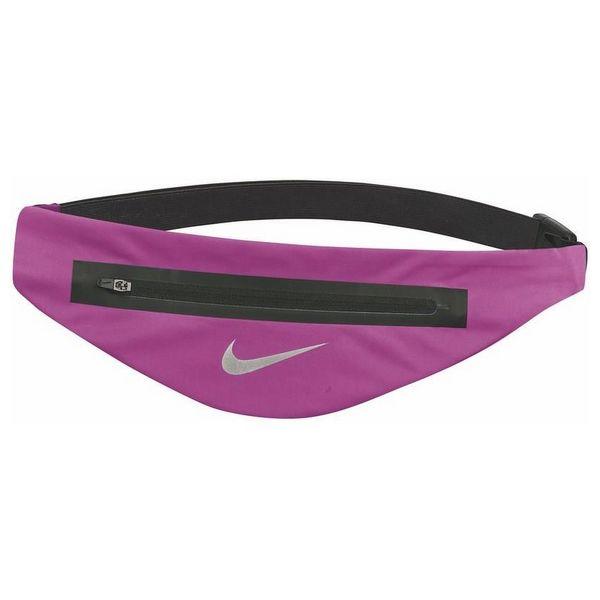 Running Belt Pouch Nike ANGLED WAISTPACH Black Fuchsia