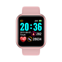 D20 Y68 Smart Watch 2021 for Men Women Heart Rate Blood Pressure Monitor Waterproof Sport Smartwatch for Andriod IOS Smart Clock cheap Arvin CN(Origin) None On Wrist All Compatible 128MB Passometer Fitness Tracker Sleep Tracker Message Reminder Call Reminder