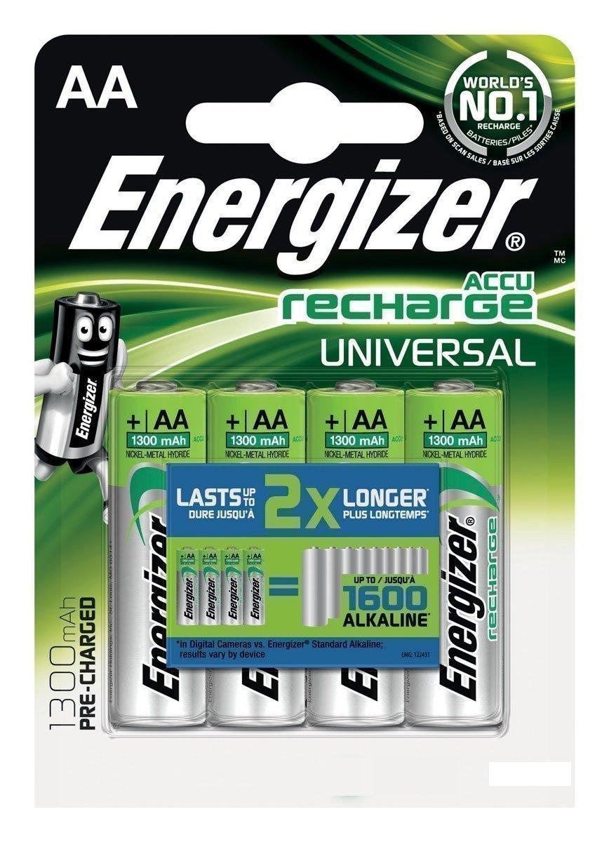 Аккумуляторы Energizer Recharge Universal АА1300мАч BL4 Аккумуляторы    АлиЭкспресс