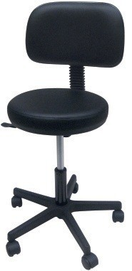 Stool WORK 3, Gas, Upholstered Similpiel Black Or White