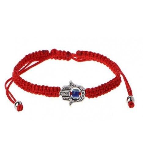 Bracelet HAND Woven FATIMA Braid With TURKISH EYE (evil Eye AMULET) 1cm