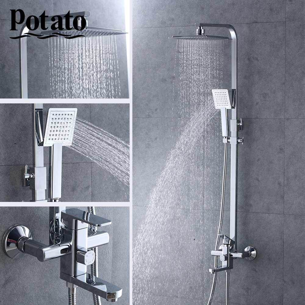 Potato Bathroom Shower Set Hot And Cold Water Shower Faucet Set Mixer Tap With Hand Sprayer Wall Mounted Chrome Bathtub P3506 Buy At The Price Of 104 65 In Aliexpress Com Imall Com