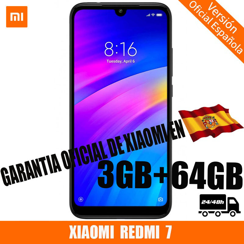[Official Spanish Version] XIAOMI Redmi 7 <font><b>smartphone</b></font> HD + 6.26