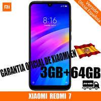 [Oficial Versão Em Espanhol] XIAOMI Redmi 7 smartphone HD + 6.26 Android 9.0 (3 GB de disco rígido + ROM 64 GB de disco rígido, SIM duplo, Bateria de 4000 mAh)