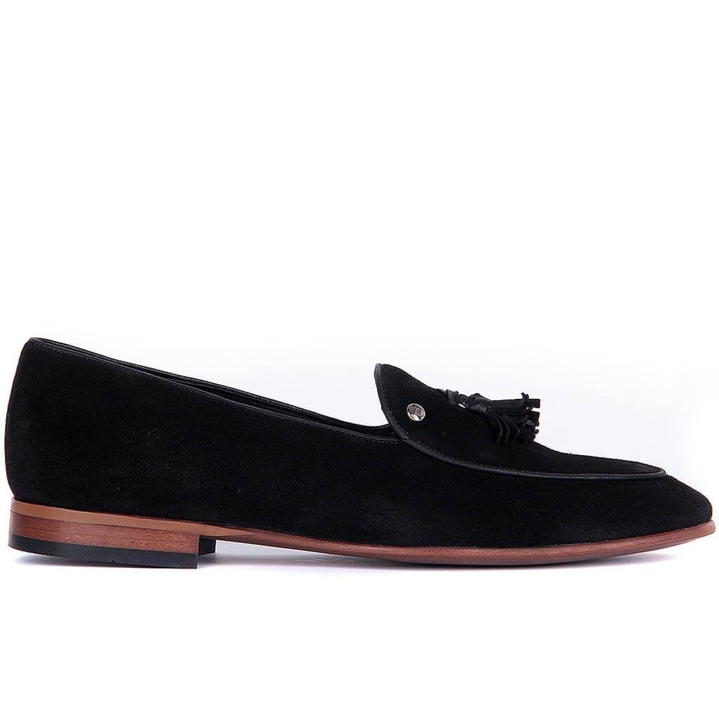 Sail-Lakers Black Men 'S Casual Suede Shoes