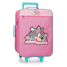 Minnie suitcase 50cm semi-rigid Vibes pink