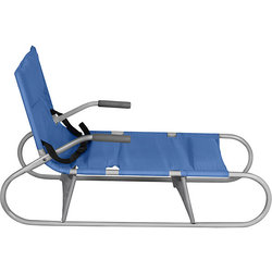 Folding sled Demi gray-blue