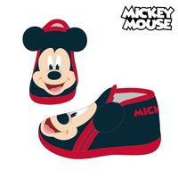 Haus Hausschuhe Mickey Maus 74130 Schwarz auf