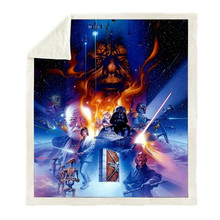 Movie Anime Star Wars Print Plush Throw Blanket Sherpa Fleece Bedspread Home Blankets For Beds Camping Soft Square Blanket(China)